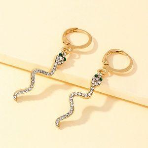 2/$20!  Gold Serpent Huggie Hoop Earrings